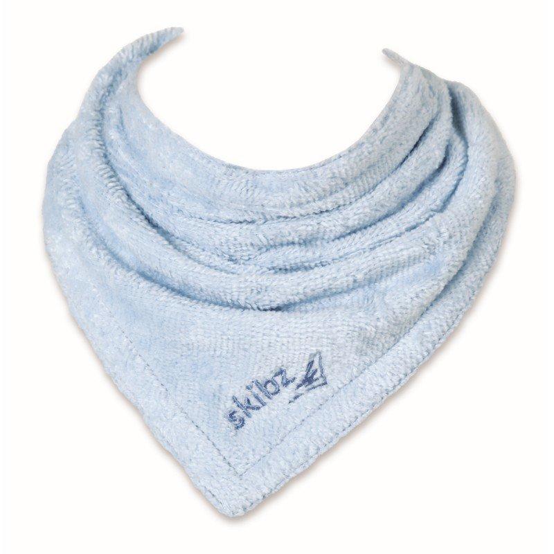 Bryndáček/slintáček organická bavlna Baby Blue