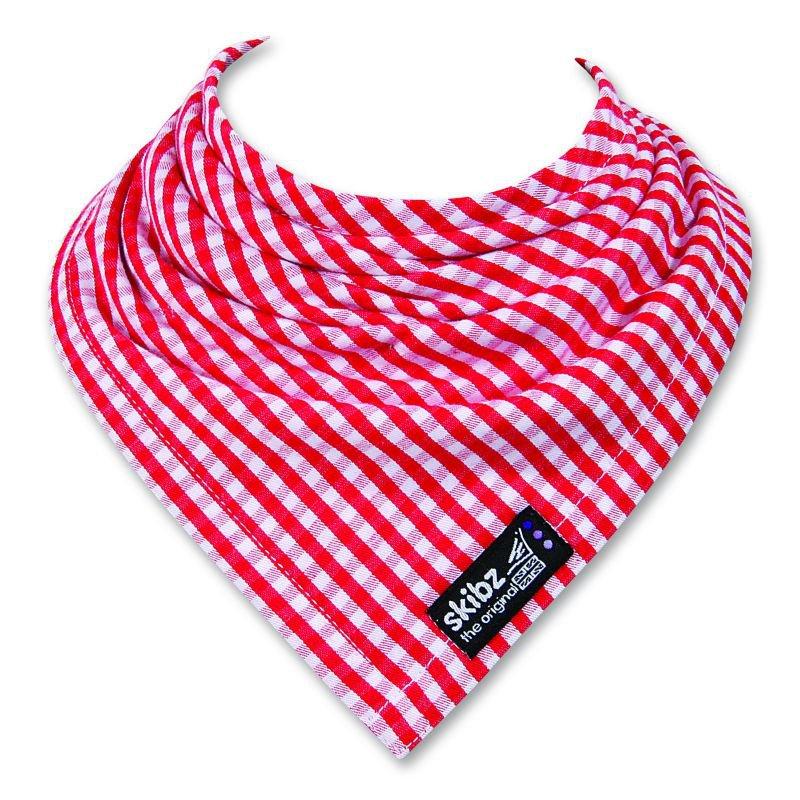 Bryndáček/slintáček tkaná bavlna Red Gingham