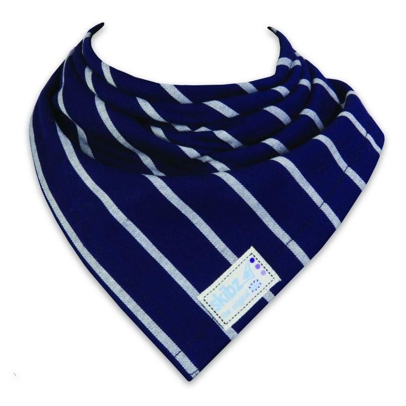 Bryndáček/slintáček tkaná bavlna French Stripe