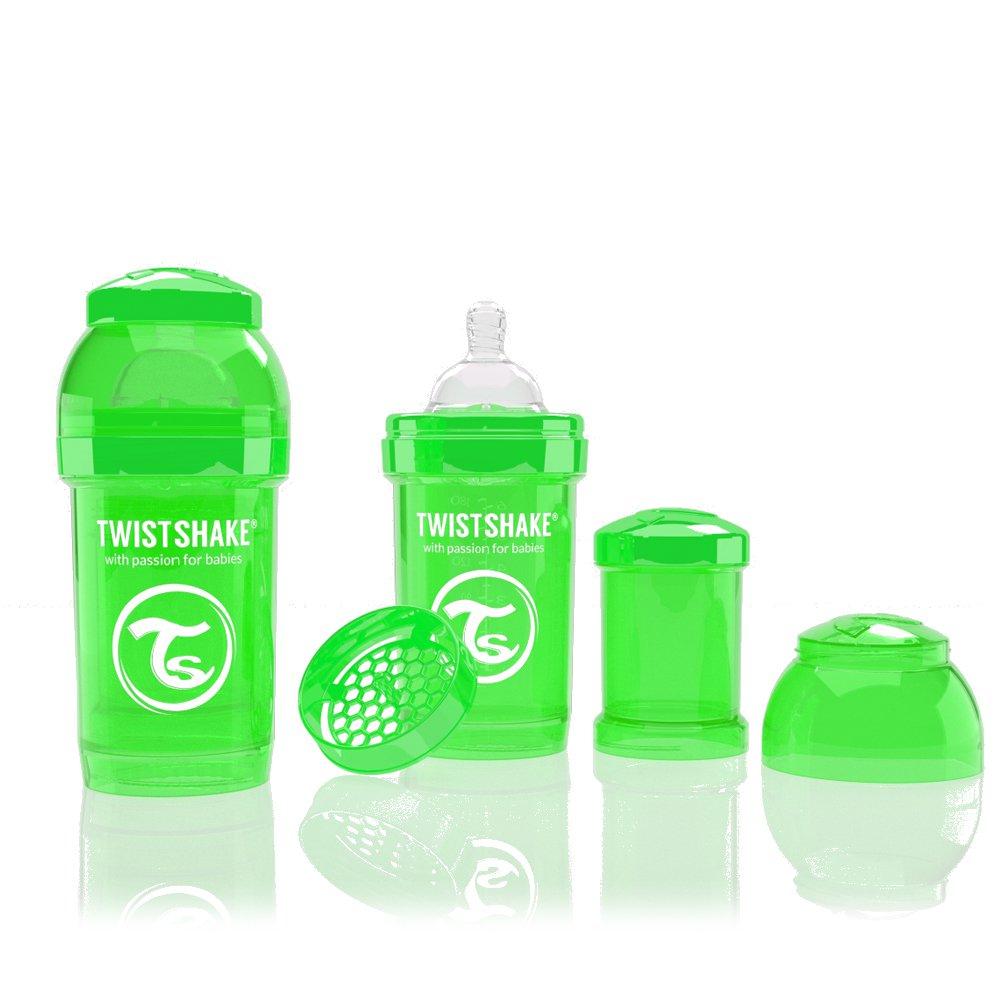 Twistshake antikoliková láhev 180ml GREEN
