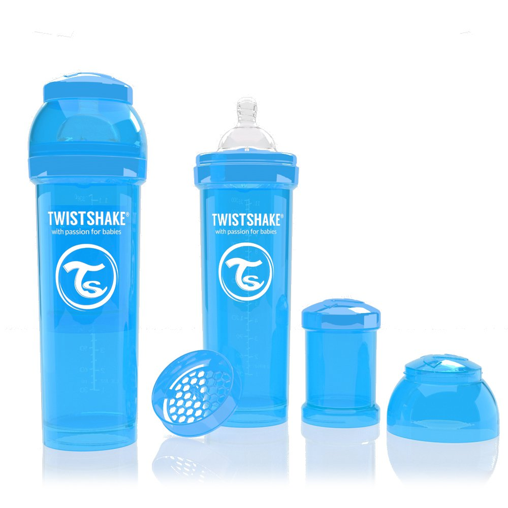 Twistshake antikoliková láhev 330ml BLUE