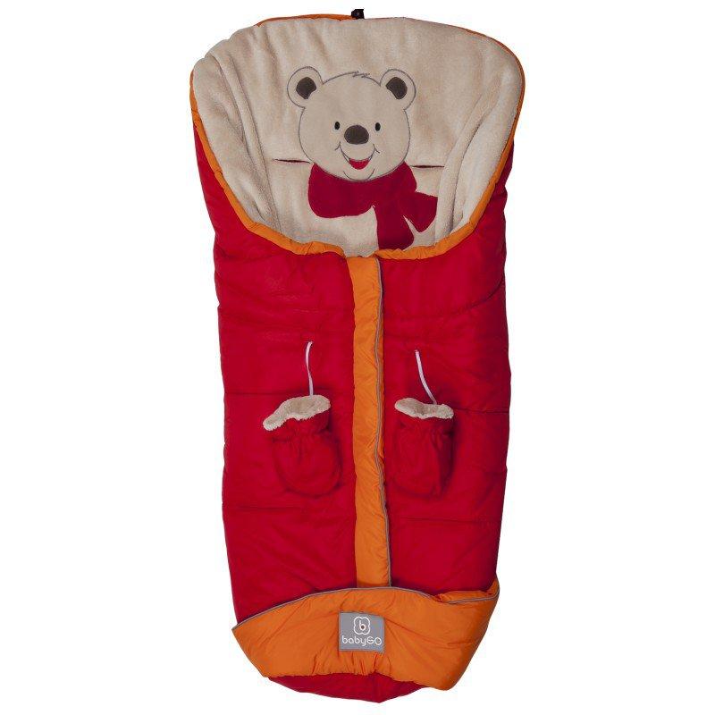 Fusak s rukavičkami Bear Red/Orage