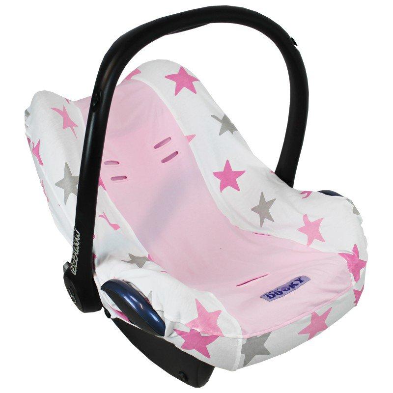 Potah na autosedačku Seat Cover 0+ Pink Stars