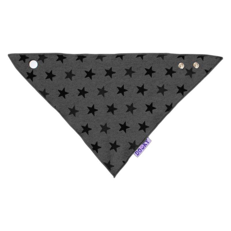Dooky bryndáček Dribble Bib Grey Star