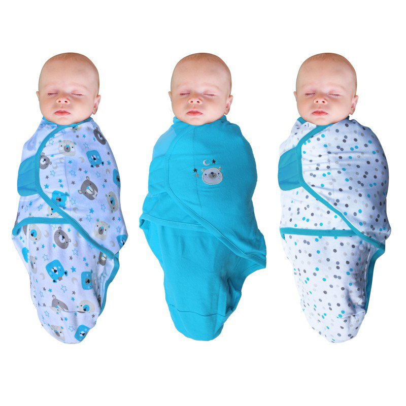 Bo Jungle zavinovačka B-Wrap SMALL 3-Pack Bear
