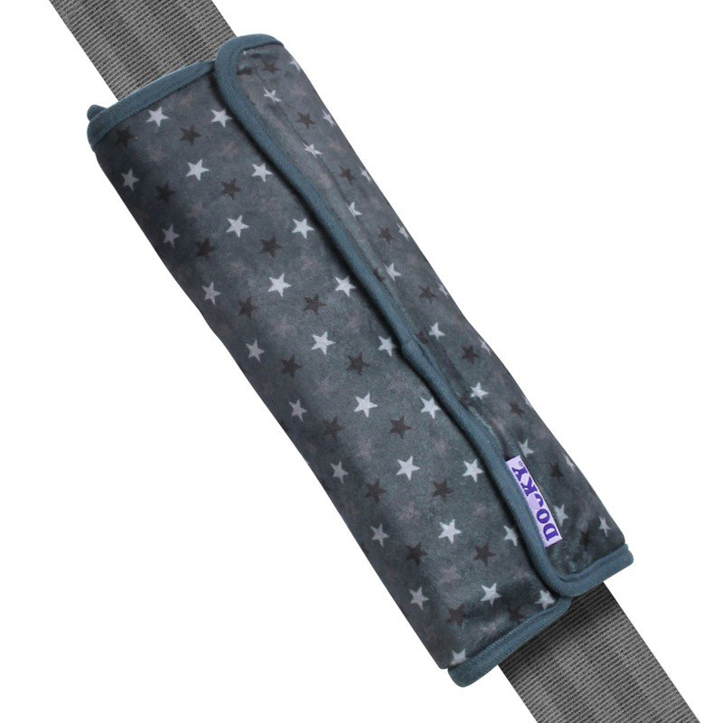 Chránič pásu Seatbelt Pillow Grey Stars