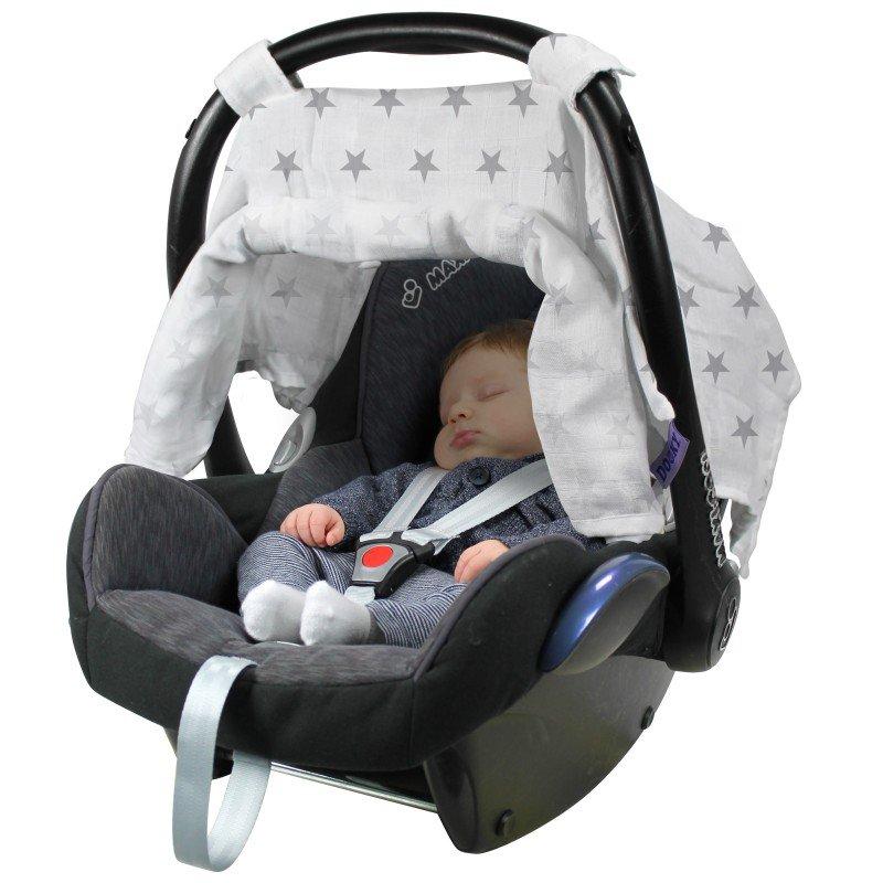 Dooky clona Car Seat Canopy Silver Stars