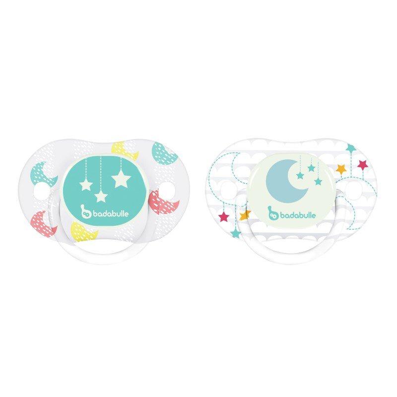 Dudlík LUMI REVERS 0-6m 2ks Moon Star