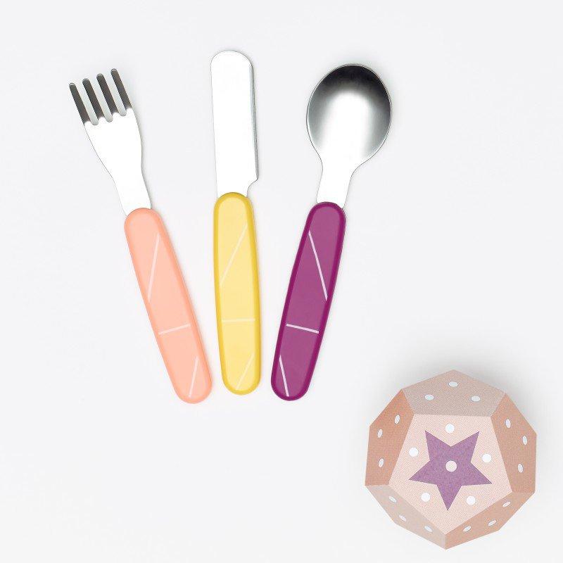 Babymoov jídelní příbor INOX Peach