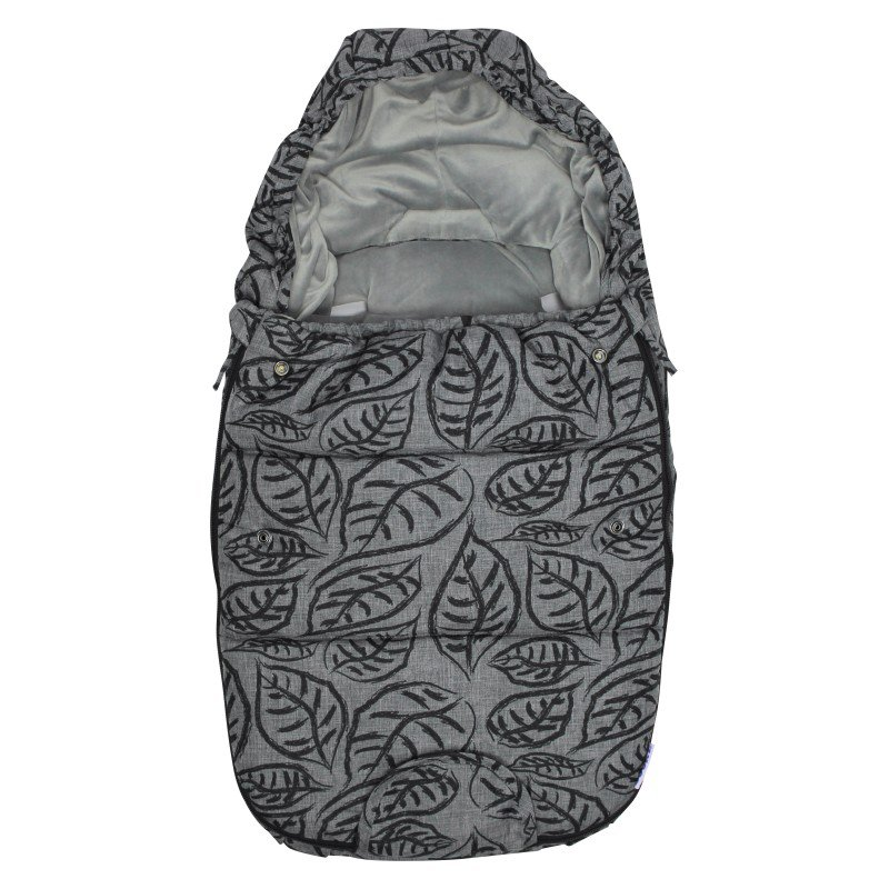 Dooky fusak Footmuff vel. S GREY LEAVES DeLuxe