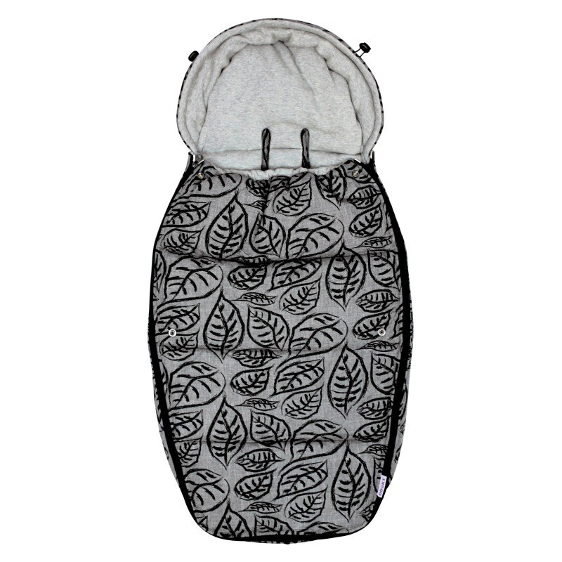 Dooky fusak Footmuff vel. L GREY LEAVES DeLuxe