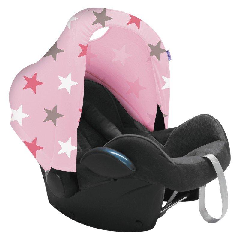 Dooky stříška Hoody Baby Pink/Pink Stars