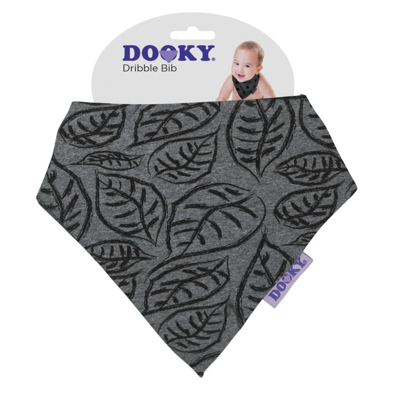 Produkt - Bryndáček Dribble Bib Grey Leaves
