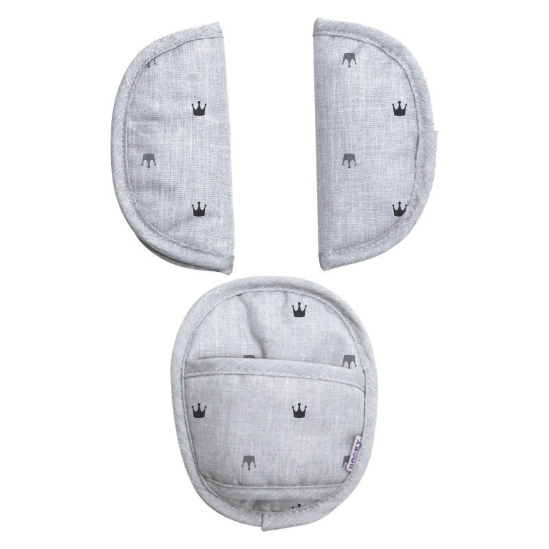 Dooky chránič pásu Universal Pads Light Grey Crowns