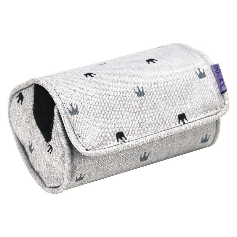 Dooky Arm Cushion Light Grey Crowns