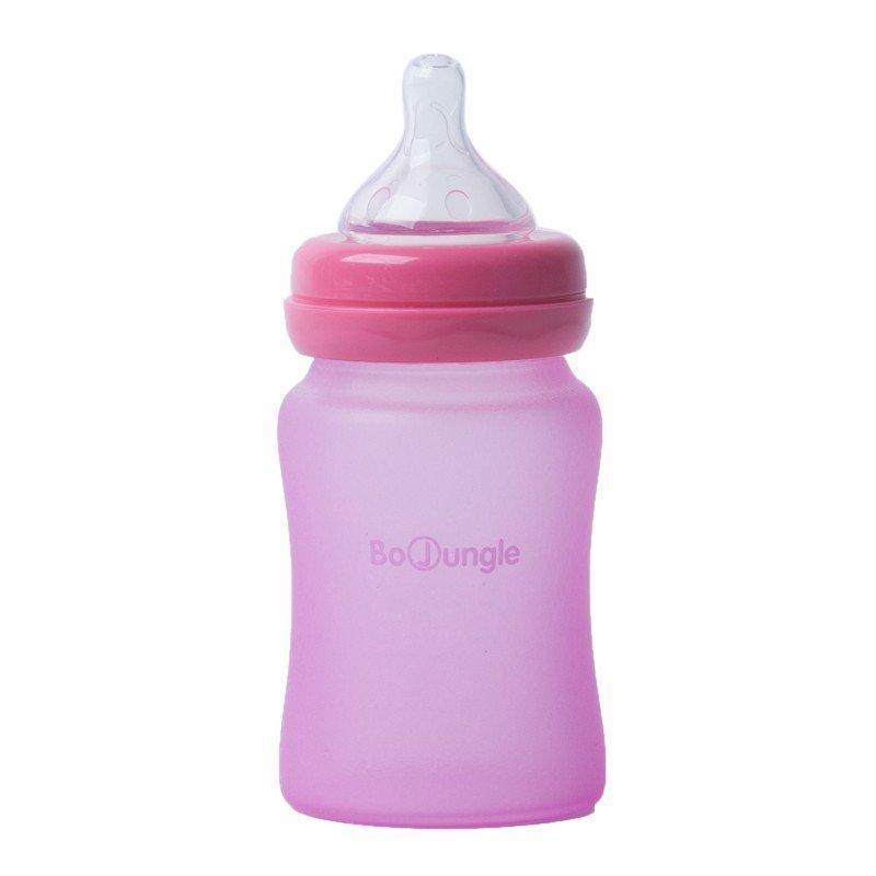 Bo Jungle skleněná láhev s úchyty B-Thermo 150ml Pink