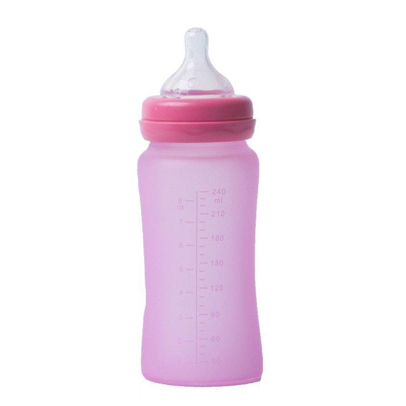 Bo Jungle skleněná láhev s úchyty B-Thermo 240ml Pink