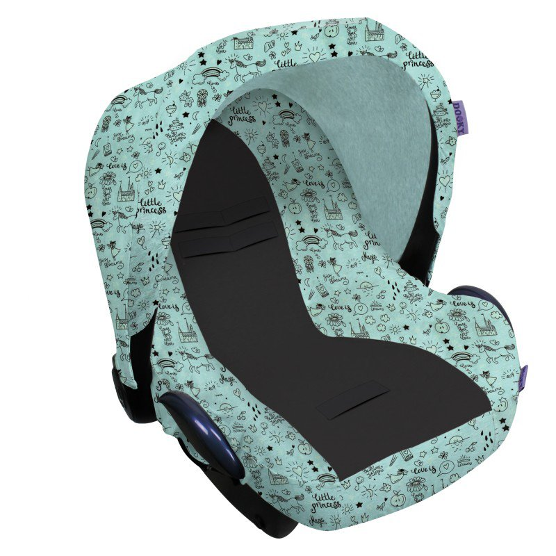 Dooky potah na autosedačku Seat Cover 0+ Limited LITTLE PRINCESS Glow in the Dark