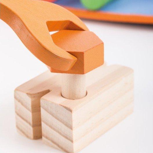 Jouéco dřevěné pracovní nářadí s opaskem 9ks 36m+