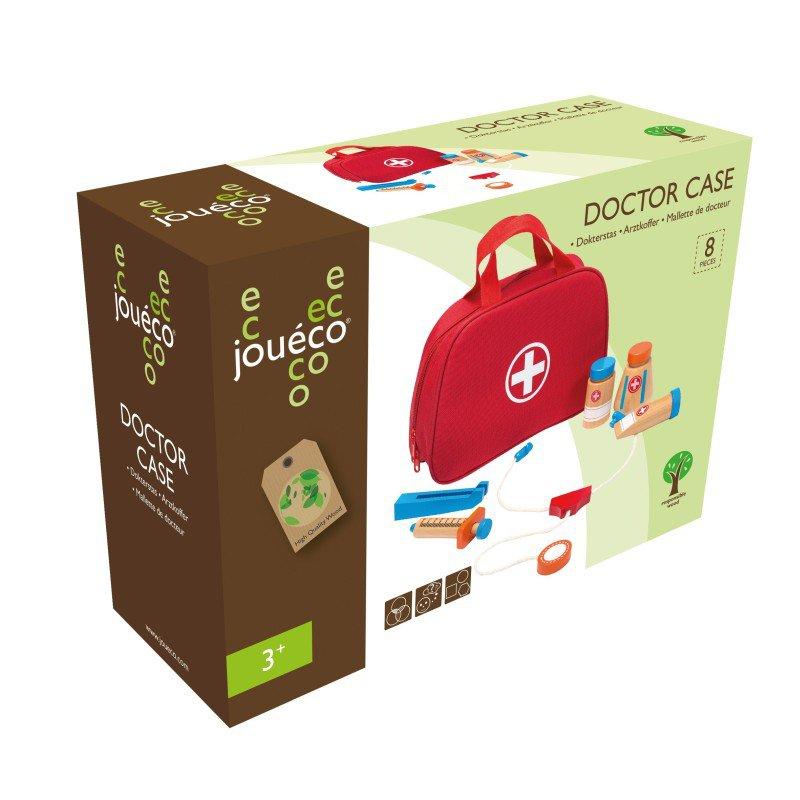 Jouéco doktorský kufřík s dřevěným příslušenstvím 8ks 36m+
