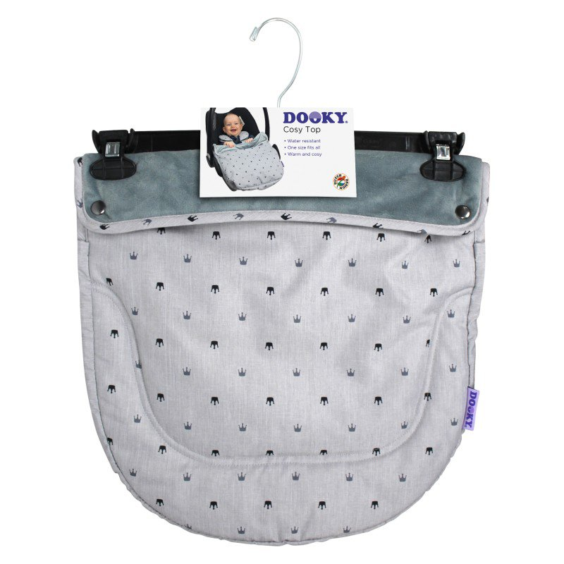 Dooky nánožník Cosy Top Light Grey Crowns