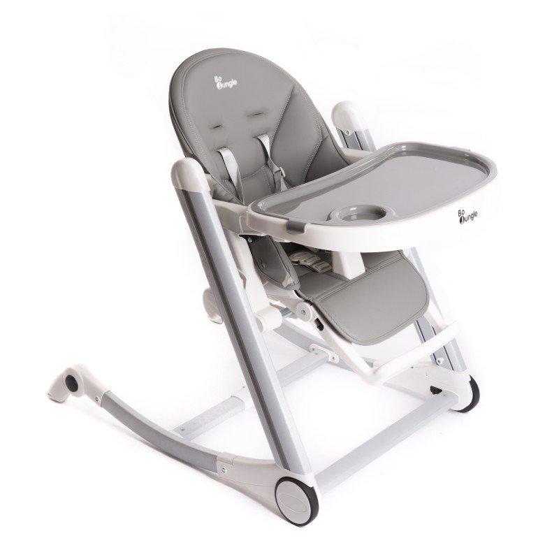 Bo Jungle jídelní židlička B-HIGH CHAIR Grey