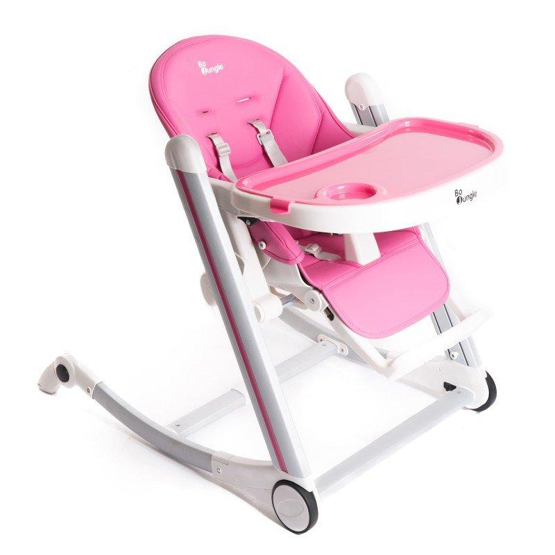 Bo JungleJídelní židlička B-HIGH CHAIR Pink