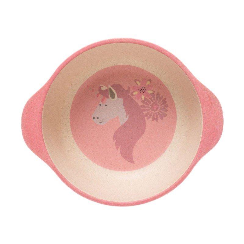 Bo Jungle kukuřičná jídelní sada B-Dinner Unicorn Pink