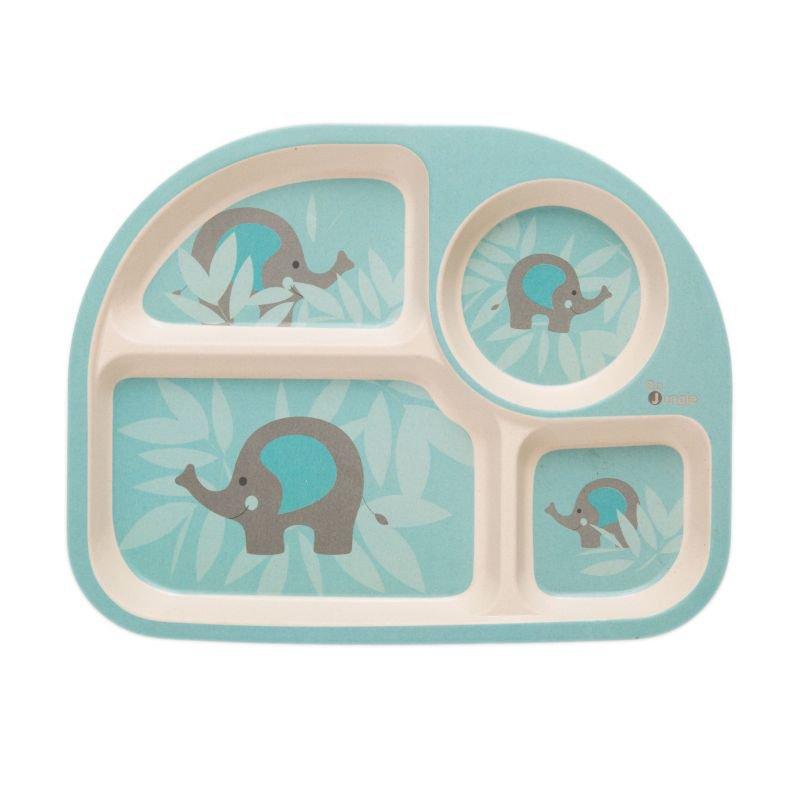 Bo JungleKukuřičná jídelní sada B-Dinner Elephant Blue