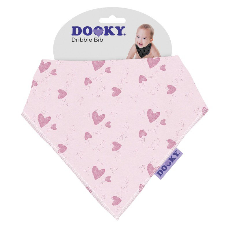 Bryndáček Dribble Bib Pink Hearts