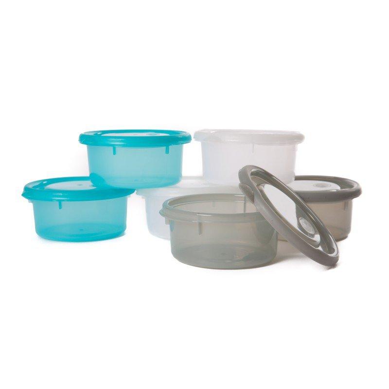 Misky s víčky Bowls Blue/White/Grey 300ml (6ks)