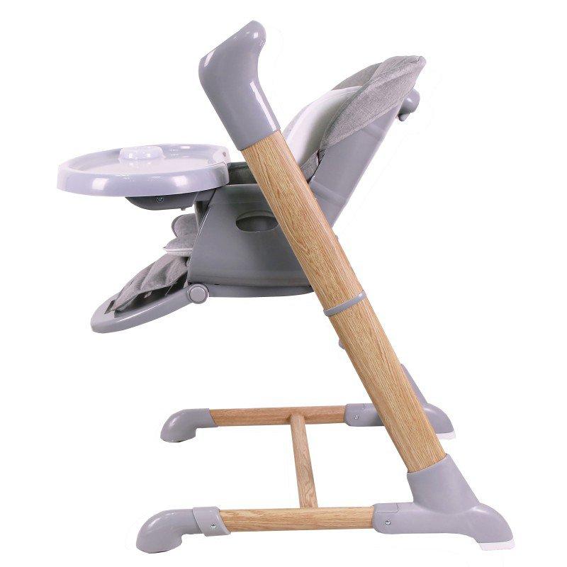 Bo JungleJídelní židlička B-SWINGING CHAIR Wood Grey