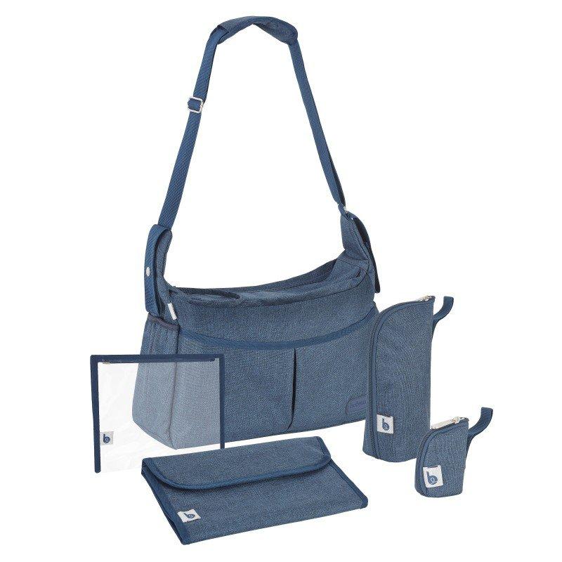 BabymoovTaška Urban Bag Melanged Blue