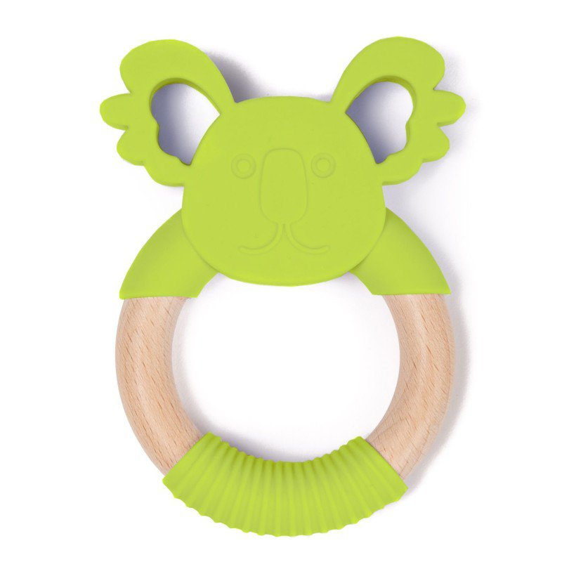 Bo Jungle kousátko B-TEETHER ANIMAL WOOD Green Koala