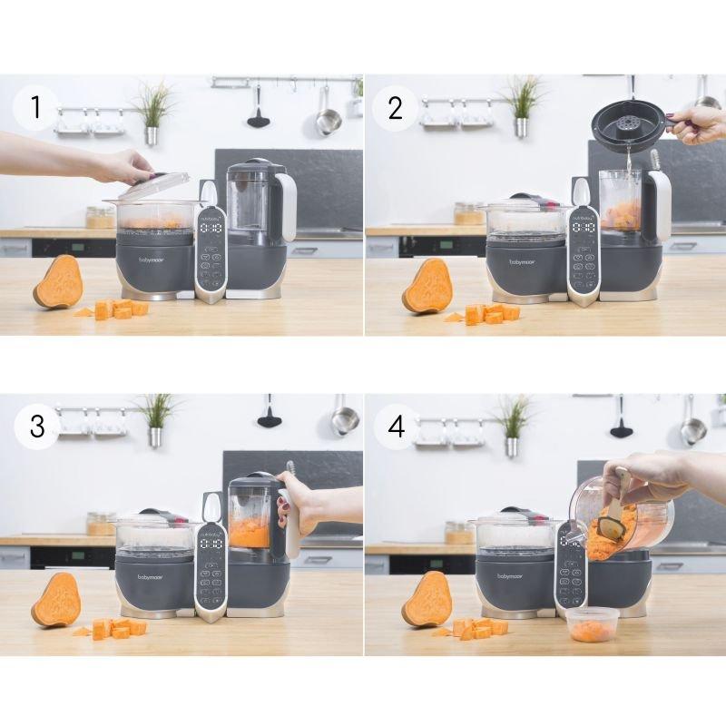 Babymoov multifunkční přístroj Nutribaby+ Industrial Grey + Foodii