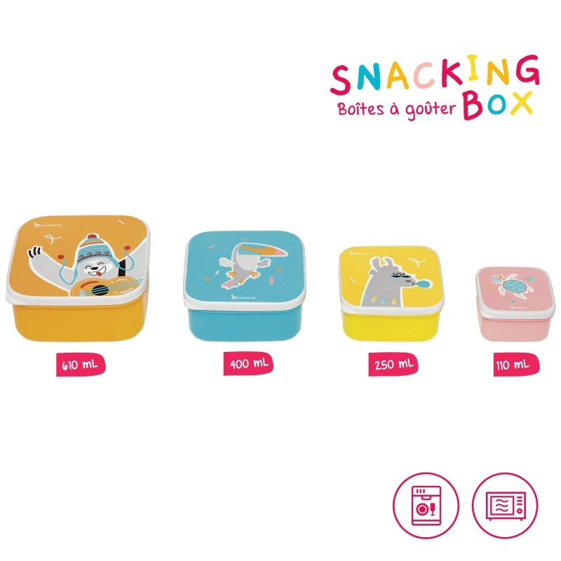 Svačinové misky Snacking box 4ks