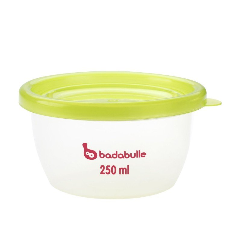 Badabulle misky s víčky MAXI 250ml sada 5ks