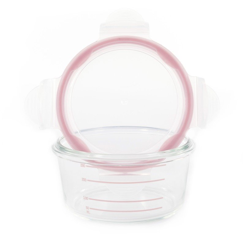 Bo Jungle skleněné misky B-Glass Bowls 280ml White/Grey/Pink