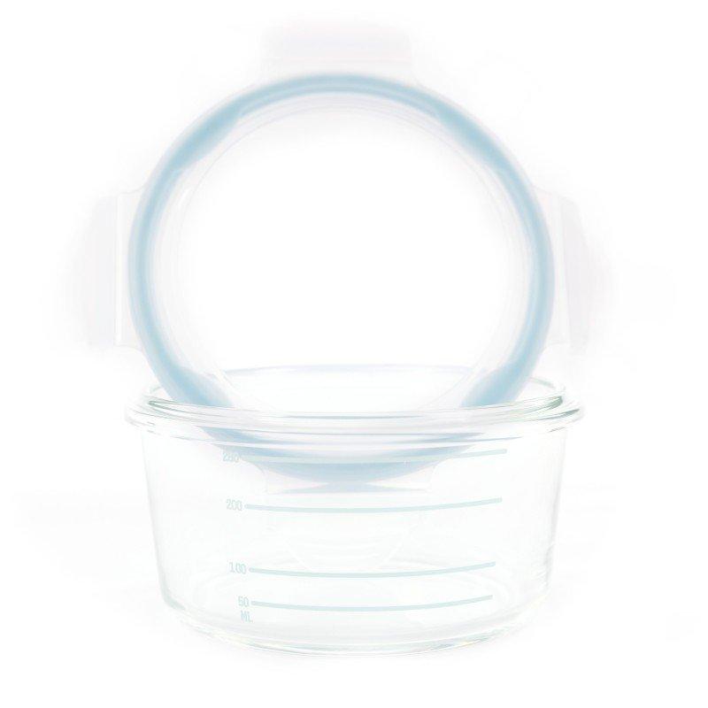 Bo Jungle skleněné misky B-Glass Bowls 280ml White/Grey/Blue