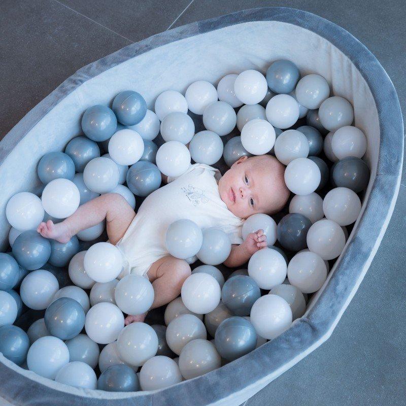 Bazének s míčky B-Ball Pit Play Gym Grey