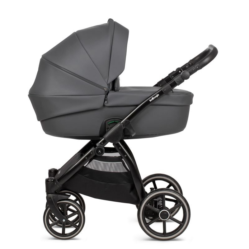 Bo JungleKombinovaný kočárek B-SUVVY Shadow Grey Eco Leather