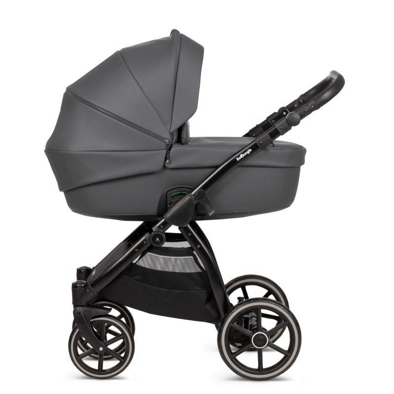 Bo Jungle hluboký kočárek B-SUVVY Shadow Grey Eco Leather