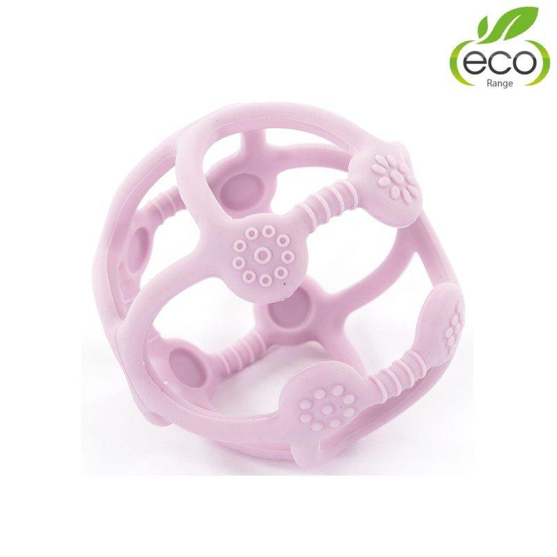 Bo Jungle silikonové kousátko B-BALL Pastel Pink