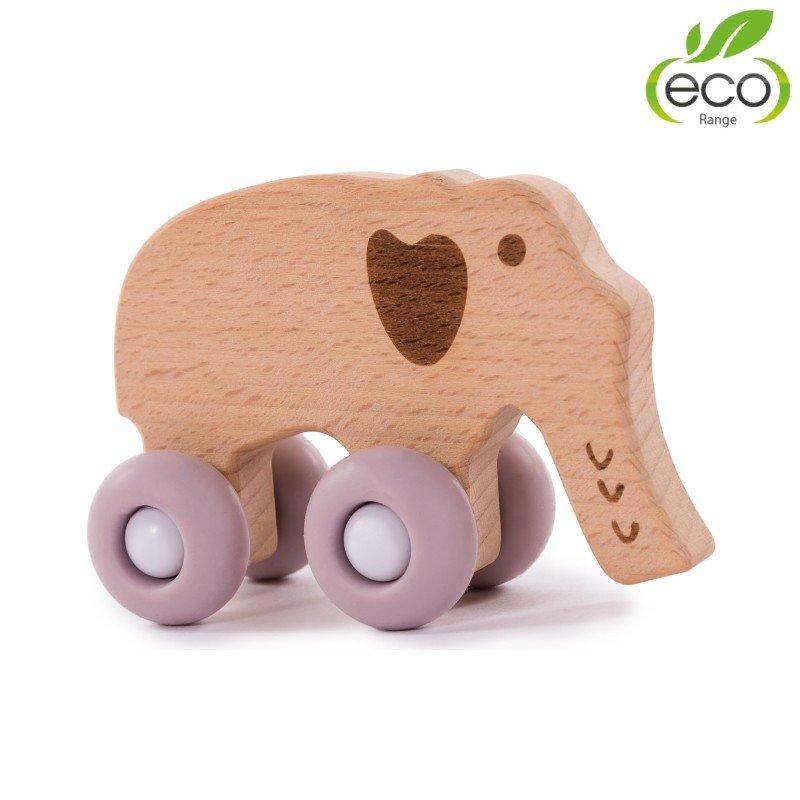 Bo Jungle dřevěná hračka B-WOODY Elephant Pastel Pink