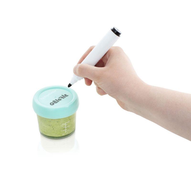 Babymoov skleněné misky s víčky MULTISET (4x 120ml + 4x 240ml)