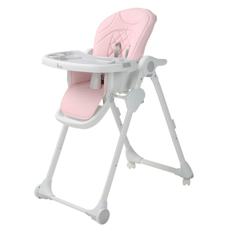 Bo Jungle jídelní židlička B-DINNER CHAIR WHEELY Pink