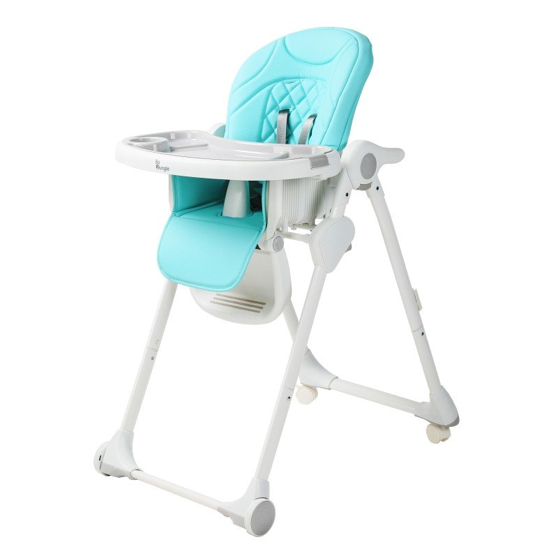 Bo Jungle jídelní židlička B-DINNER CHAIR WHEELY Blue