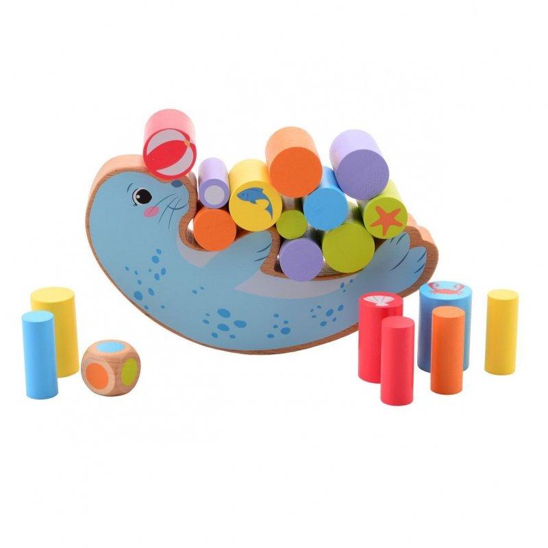 Jouéco dřevěná balanční hra Tuleň 36m+