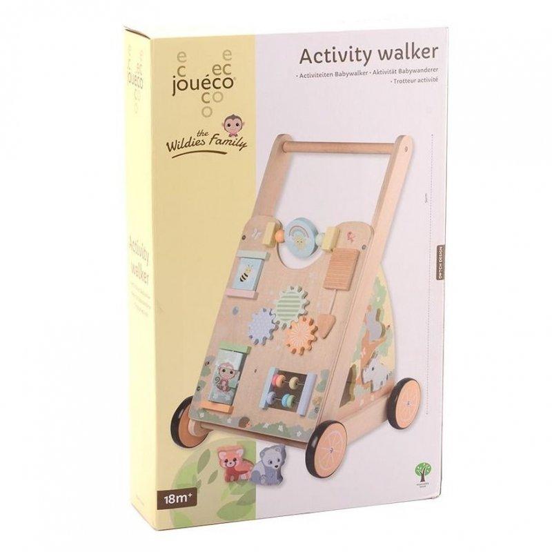 Jouéco The Wildies Family dřevěné chodítko Activity Walker 18m+