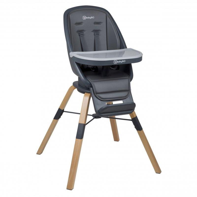 BABYGOJídelní židlička CAROU 360° Grey